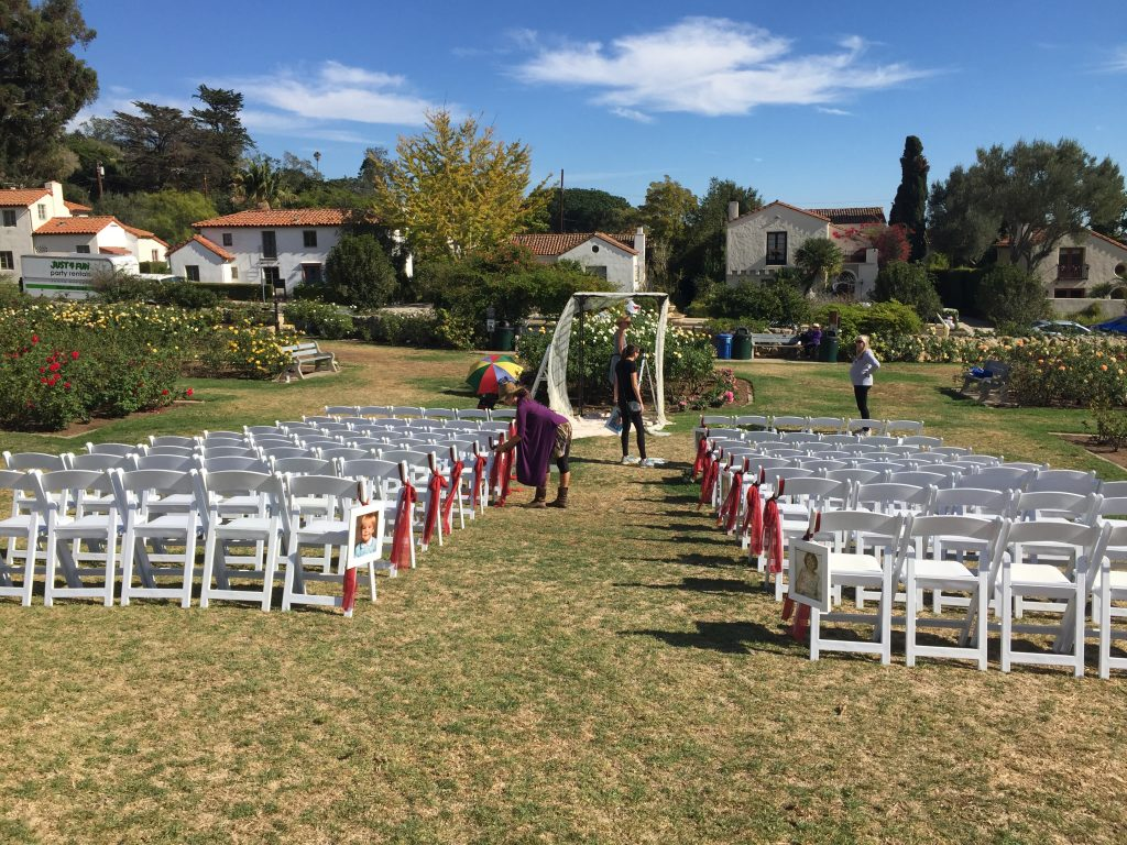 mission rose gardens ceremony